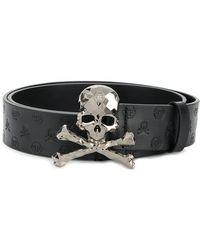 Philipp Plein - Skull Buckle Patent Belt - Lyst