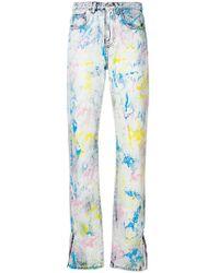 MSGM | Paint Splattered Denim Jeans | Lyst