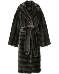 Goen.J - Oversized Faux-fur Coat - Lyst
