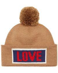 Fendi - Love Slogan Beanie Hat - Lyst