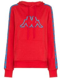 Charm's - X Kappa Logo Embroidered Cotton-blend Hoodie - Lyst