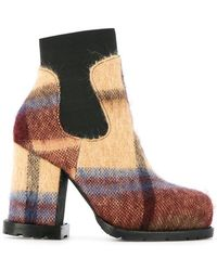 Sacai - Checked Ankle Boots - Lyst