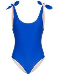 Paper London - Ricki Baker Bow Shoulder Swimsuit - Lyst
