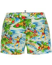 DSquared² - Hawaii Print Swim Shorts - Lyst