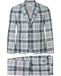 Thom Browne - Tartan Check Classic Suit And Tie - Lyst