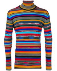 Missoni - Striped Roll Neck Jumper - Lyst