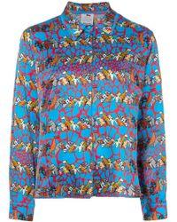Ultrachic - Long-sleeve Printed Shirt - Lyst
