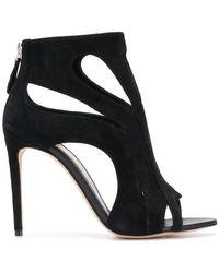 Alexander McQueen - Zipped Open-toe Sandals - Lyst