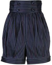 Rosie Assoulin Pantalones cortos a rayas - Azul