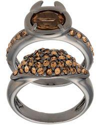 Camila Klein - Strass Embellished 2-ring Set - Lyst