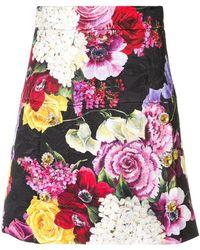 Dolce & Gabbana Floral Jewelled Skirt