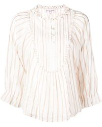 277c7582723e27 Apiece Apart Bravo Pleated Hammered Silk-satin Blouse Antique Rose in Pink  - Save 10% - Lyst