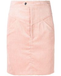 Isabel Marant - High Waisted Corduroy Skirt - Lyst