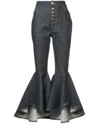 Ellery - Hysteria Crop Flared Jeans - Lyst