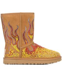Jeremy Scott - Crystal Flame Ankle Boots - Lyst