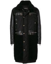 DSquared² - Manteau à empiècements texturés - Lyst