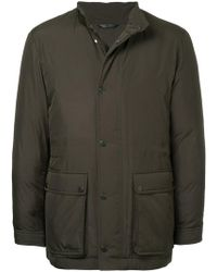 Gieves & Hawkes - Front Pockets Padded Coat - Lyst