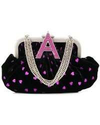 The Attico - Embroidered Hearts Shoulder Bag - Lyst