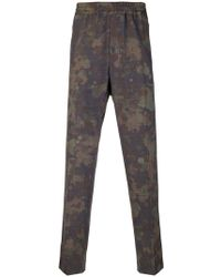 Stella McCartney - Mixed-print Tapered Trousers - Lyst