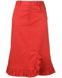 Preen Line - Marina Frill Trim Skirt - Lyst