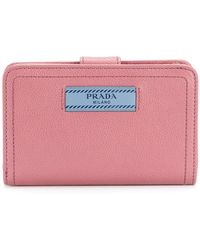 Prada - Logo Patch Wallet - Lyst