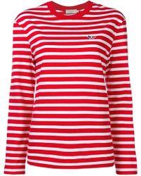 Maison Kitsuné - Striped Longsleeved T-shirt - Lyst