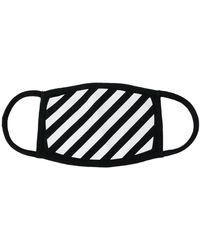 Off-White c/o Virgil Abloh Masker Met Diagonale Strepen - Zwart