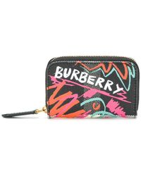 Burberry - Logo Zipped Purse - Lyst