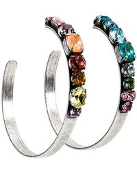 DANNIJO - Rainbow Hoop Earrings - Lyst