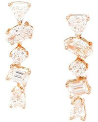 Kimberly Mcdonald - 18k Rose Gold Diamond Stud Earrings - Lyst