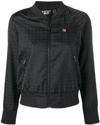 encanto de costo comprar popular Moda Fila Hooded Bomber Jacket in Black - Lyst