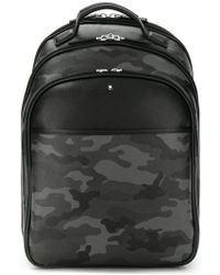 Montblanc - Camouflage Print Backpack - Lyst