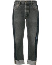 Kendall + Kylie - Sequin Stripe Cropped Jeans - Lyst