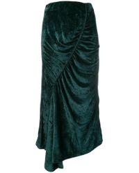 81ad6ea0f2 KENZO Pleated Midi Skirt in Black - Lyst