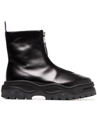 Eytys - Raven Zip Up Leather Boots - Lyst