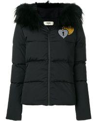Fendi - Heart Embroidered Padded Jacket - Lyst