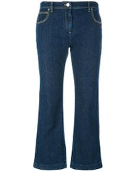 KENZO - Cropped Flare Jeans - Lyst