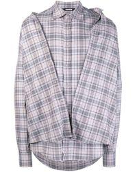 Moohong - 'second Skin' Checked Shirt - Lyst