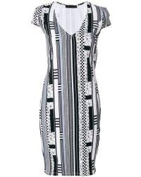 Frankie Morello - Printed Mini Dress - Lyst