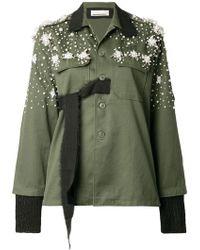 Night Market - Embellished Military Shirt Jacket - Lyst