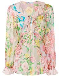 Blumarine - Floral Print Blouse - Lyst