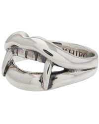 Yohji Yamamoto - Silver Vampire Engraved Ring - Lyst