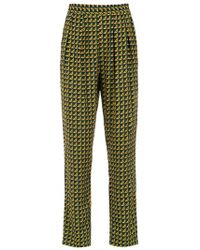 Andrea Marques - Printed Cropped Trousers - Lyst