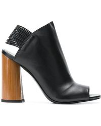 3.1 Phillip Lim - Chunky Heel Open Toe Mules - Lyst