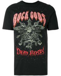 John Richmond - Rock Gods Print T-shirt - Lyst