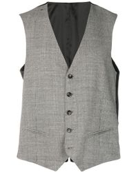 Tonello - Houndstooth Pattern Waistcoat - Lyst