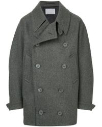 Kolor - Oversized Double Breasted Coat - Lyst