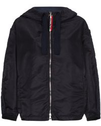 Moncler | Hooded Jacket With Logo Sleeves | Lyst