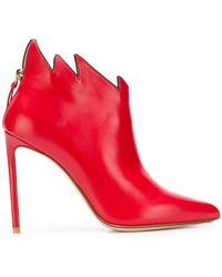 Francesco Russo - Stiletto Flame Ankle Boots - Lyst