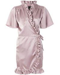 iil7 - Ruffled Wrap Dress - Lyst
